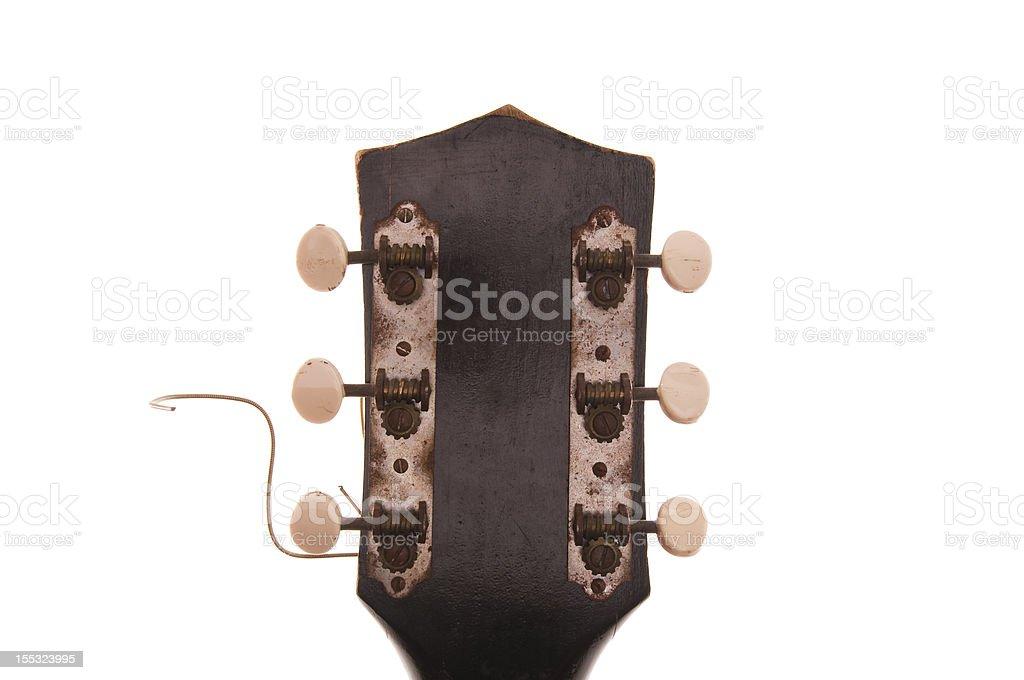 Guitarra Vintage Headstock foto royalty-free