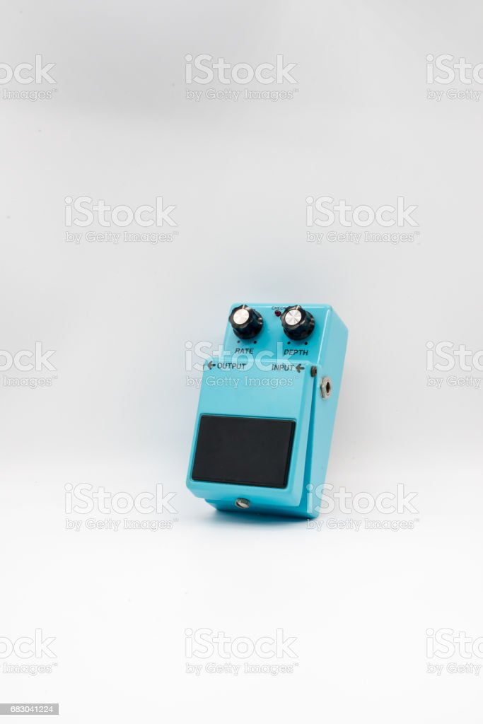 Vintage guitar pedal stock photo