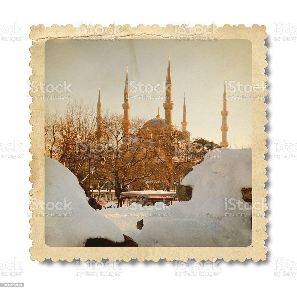 Vintage Hagia Sophia (Clipping Path) stock photo