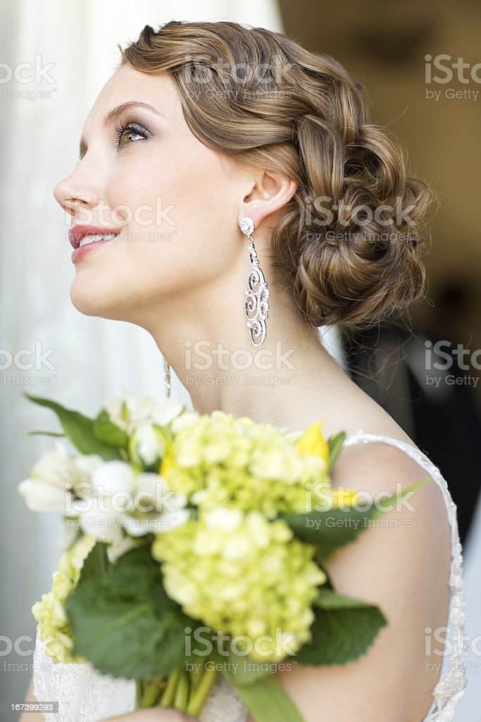 Vintage hair style royalty-free stock photo