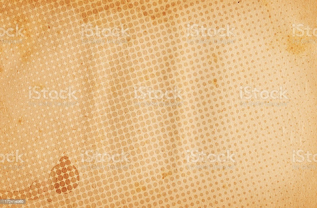 Vintage Halftone Paper XXL royalty-free stock photo