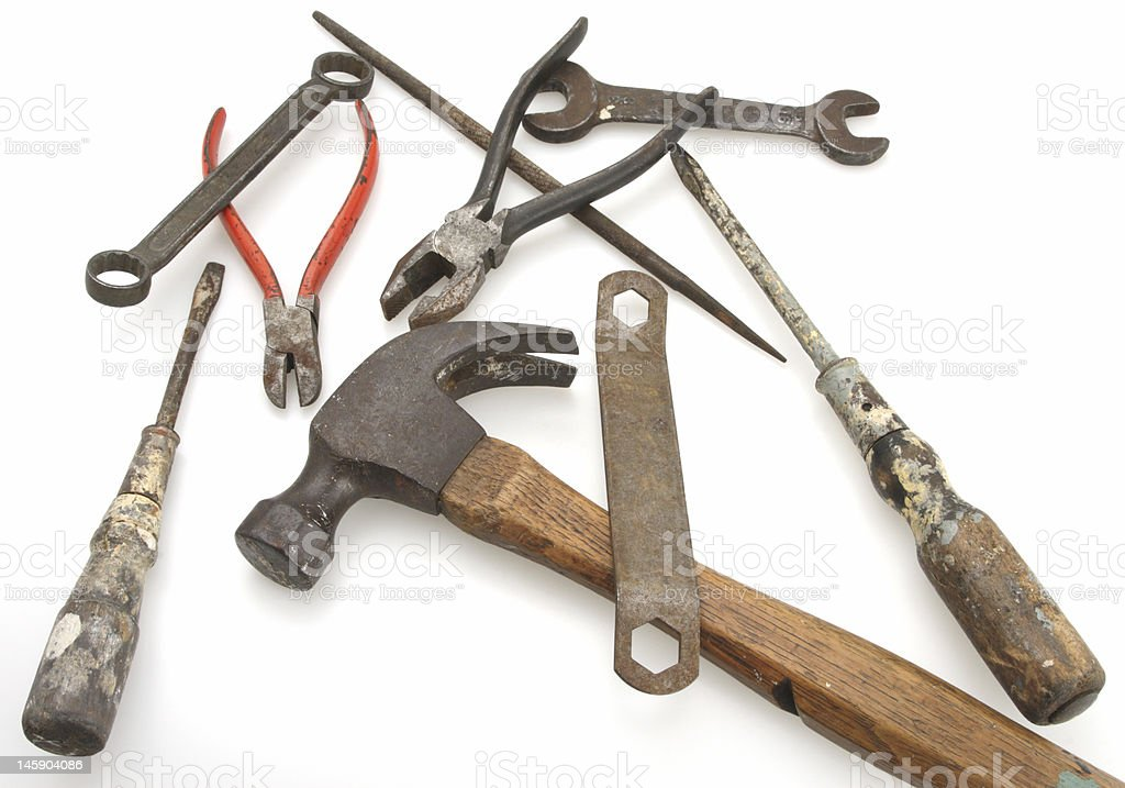 Vintage Hammer and Tools royalty-free stock photo