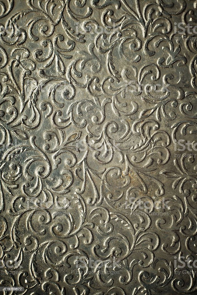 Vintage hammered metal ornament. royalty-free stock photo