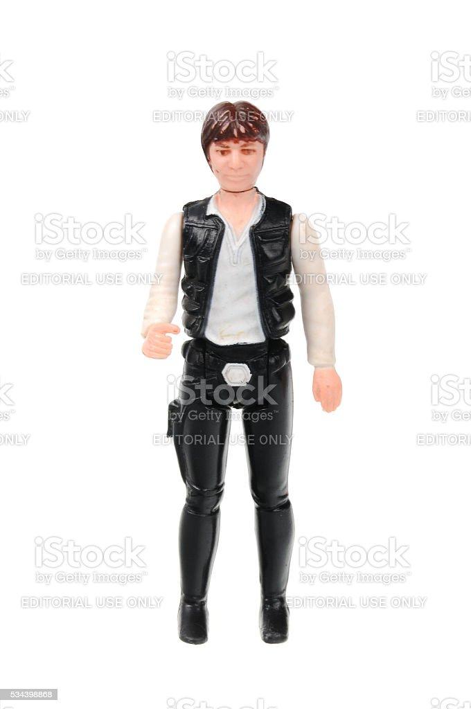 Vintage Han Solo Action Figure stock photo