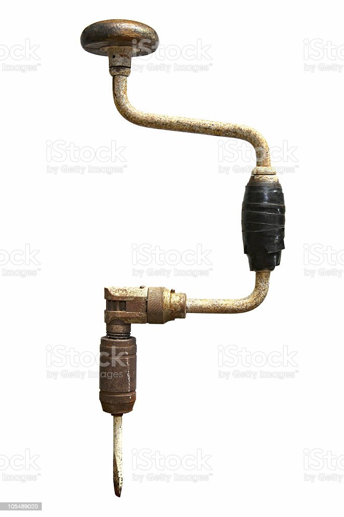 Vintage Hand Drill stock photo
