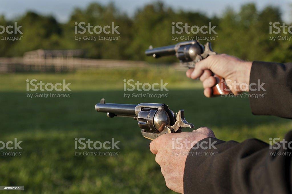Vintage Handgun Revolvers stock photo