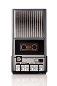 Vintage handheld tape recorder