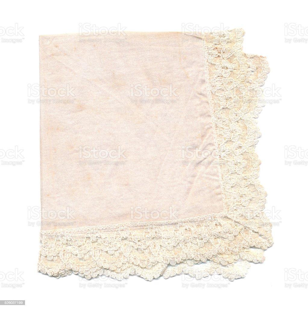 Vintage handkerchief stock photo