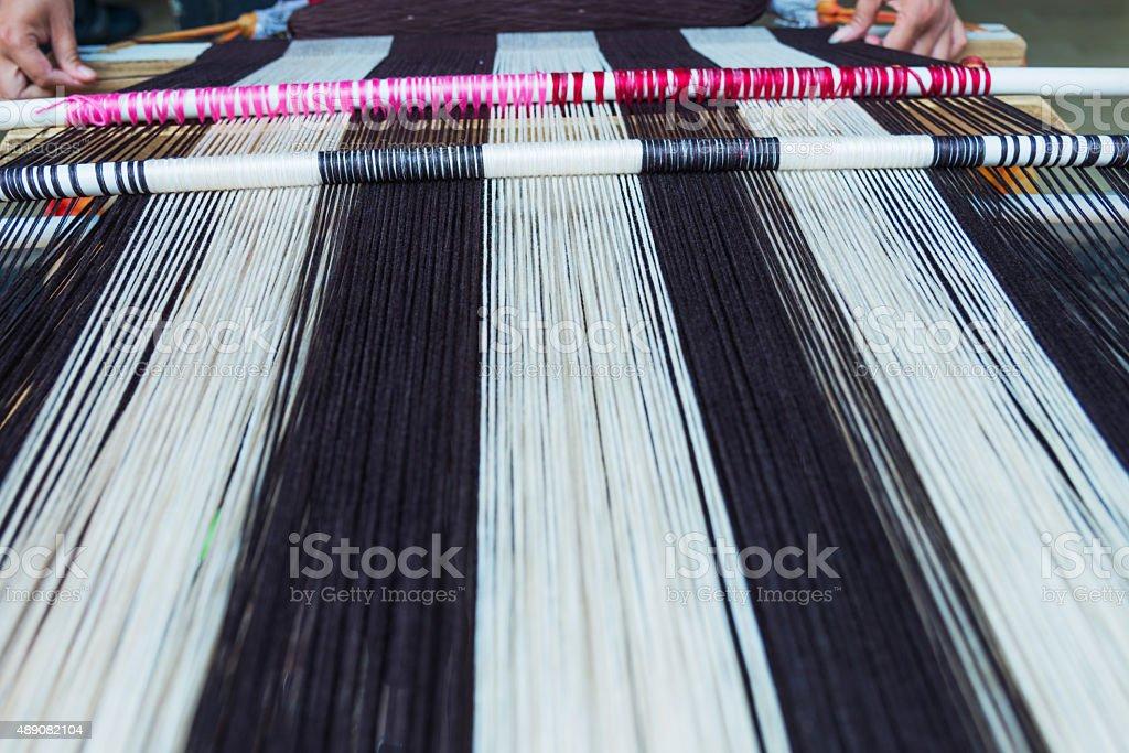 Vintage handloom weaving stock photo
