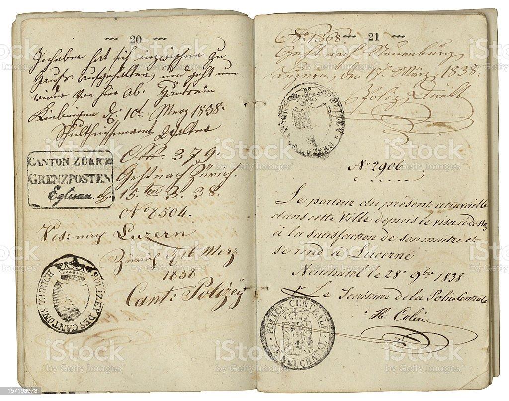 Vintage Handwriting royalty-free stock photo