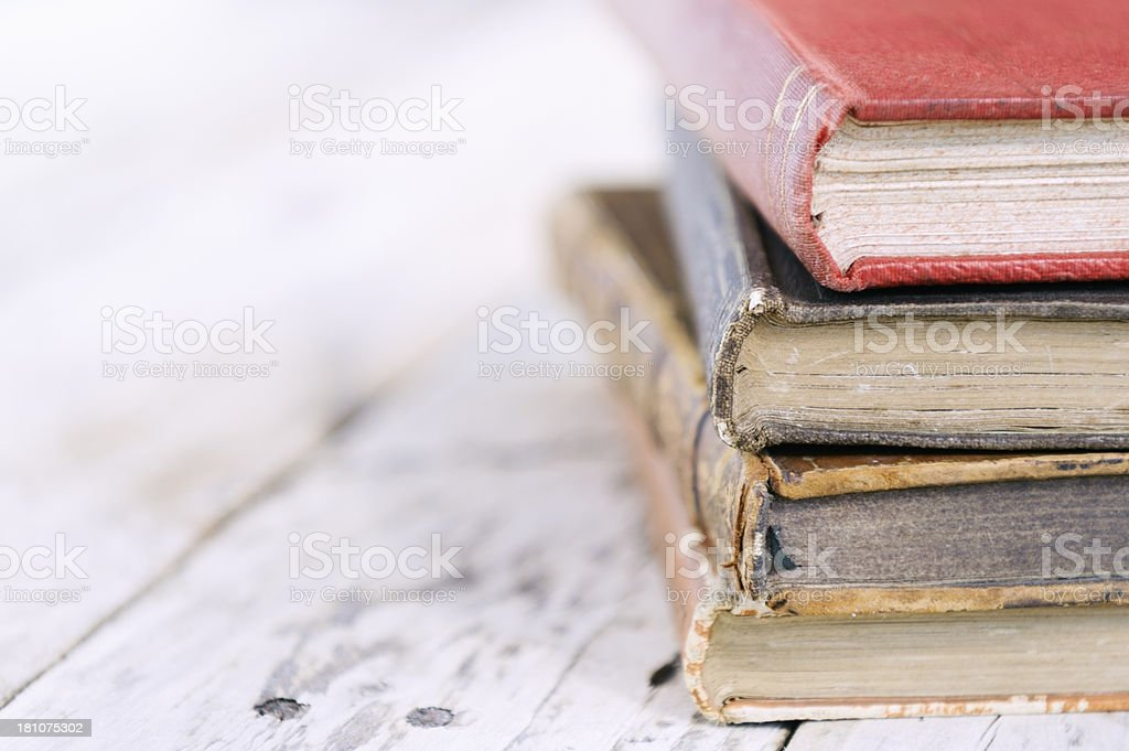 vintage hardcover books royalty-free stock photo