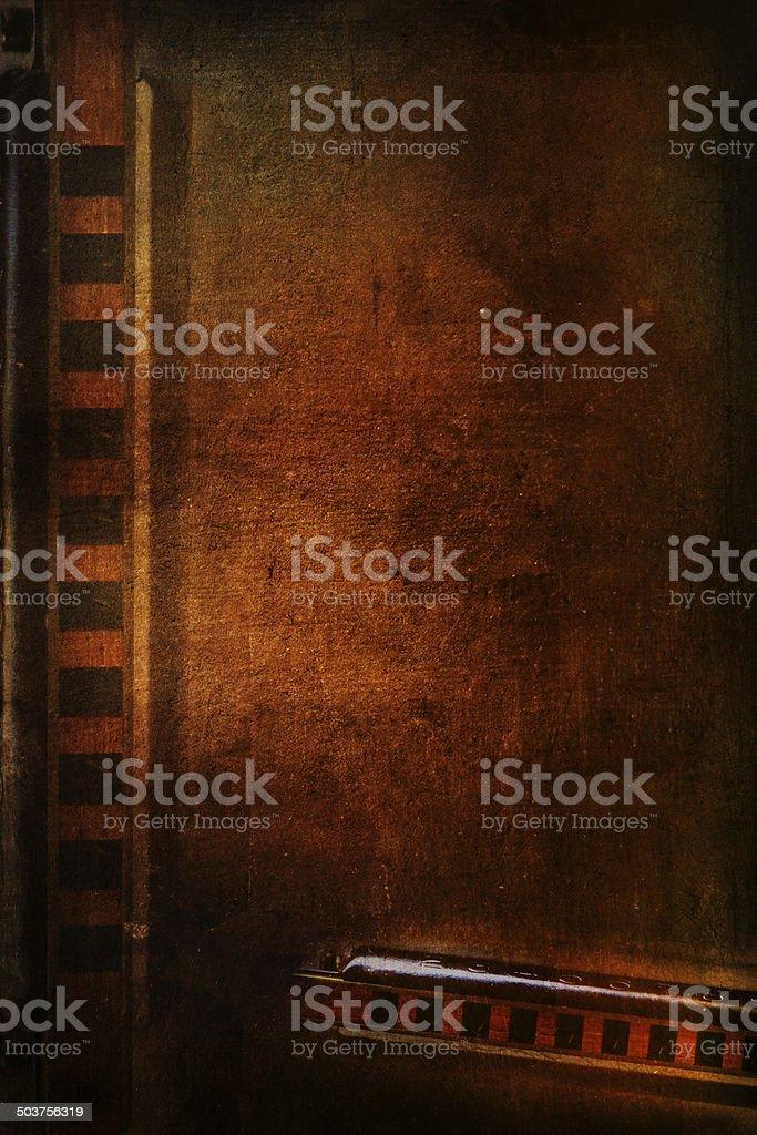 Винтажный Губная гармоника Стоковые фото Стоковая фотография