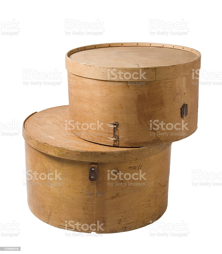 vintage hatbox royalty-free stock photo