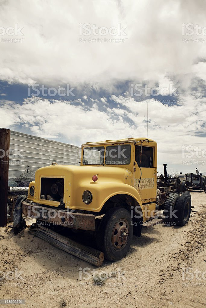 Vintage hauling truck royalty-free stock photo