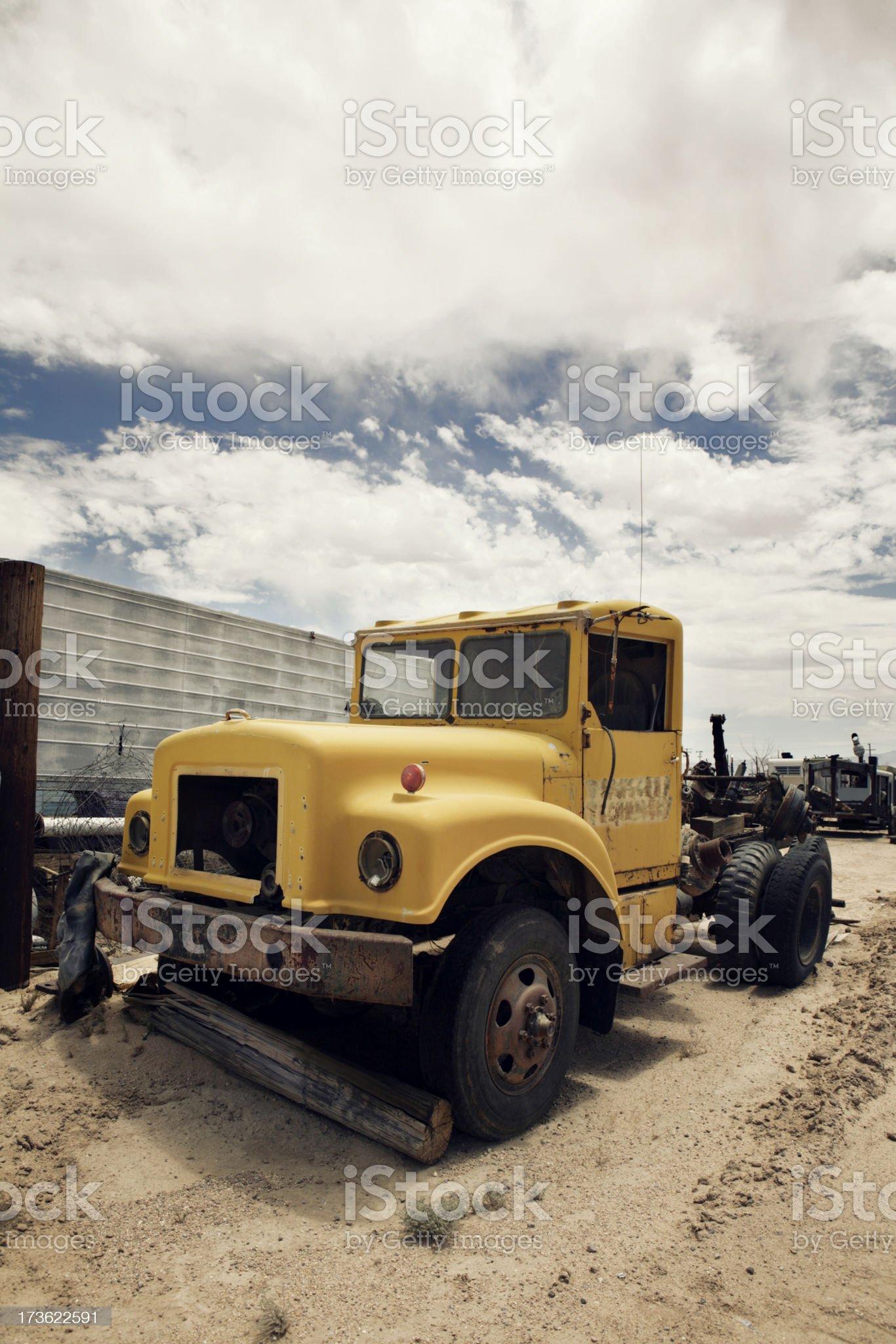 Vintage hauling truck royalty-free stock photo