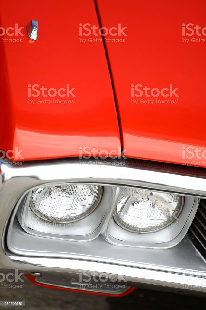 Vintage headlight stock photo