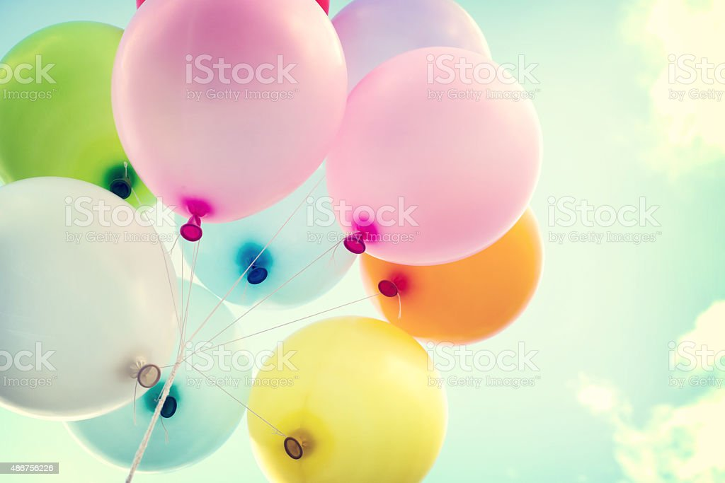 vintage heart balloon stock photo