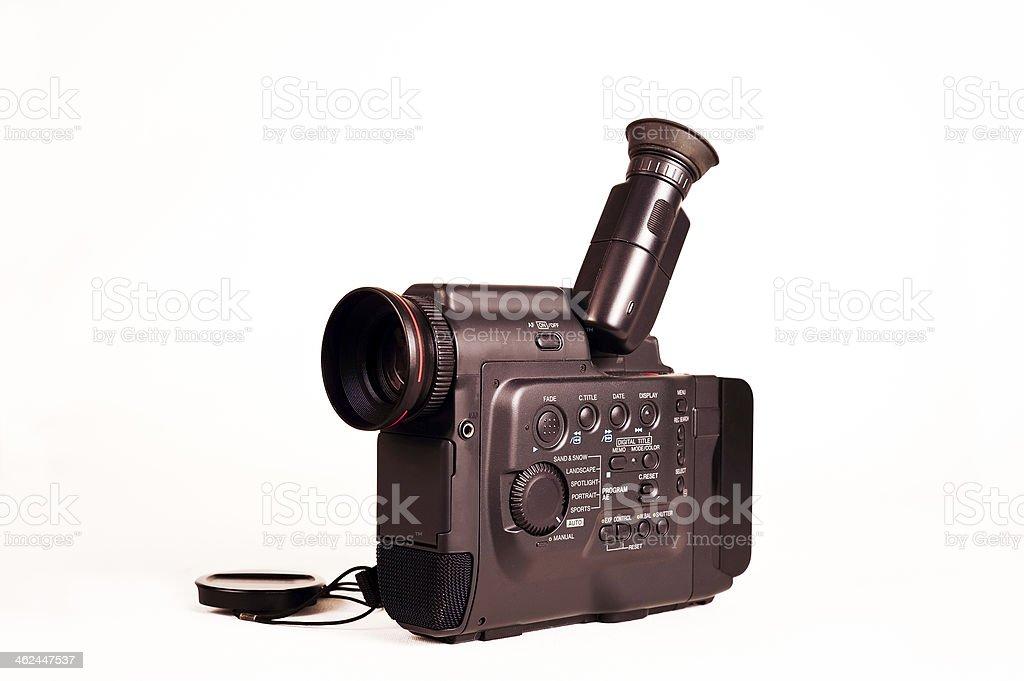 Vintage Hi8 Camcorder stock photo