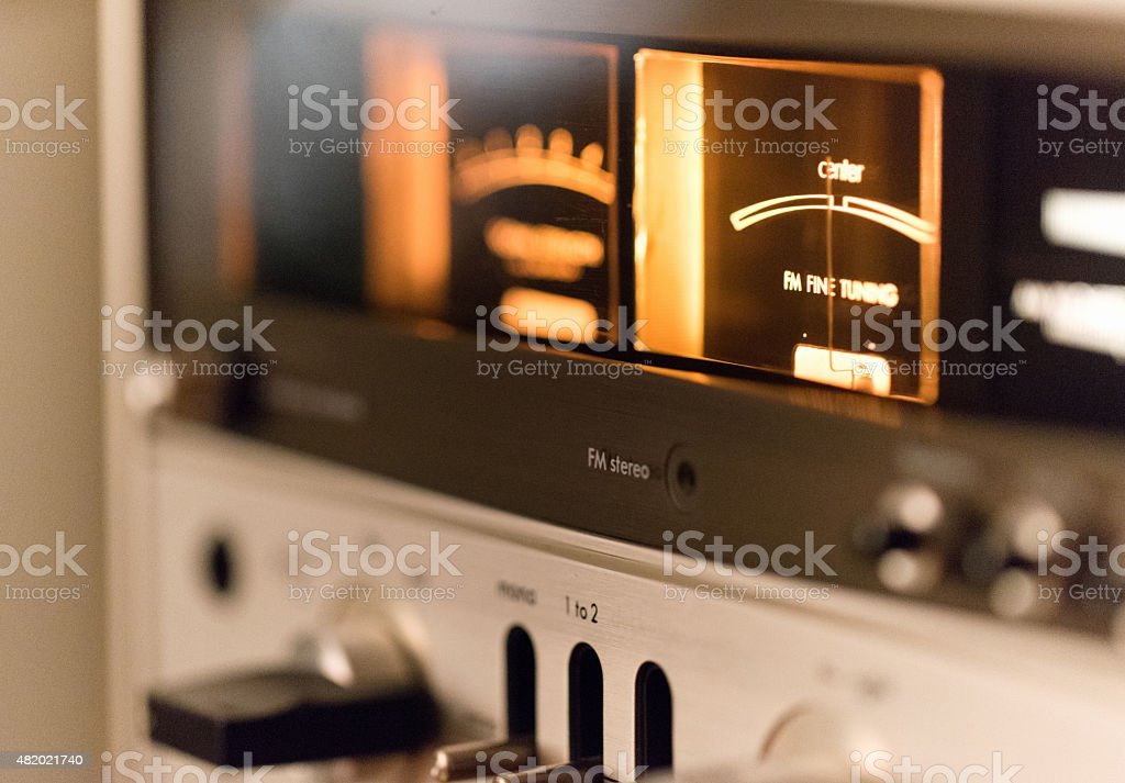 Vintage HiFi Receiver from the 70s stock photo