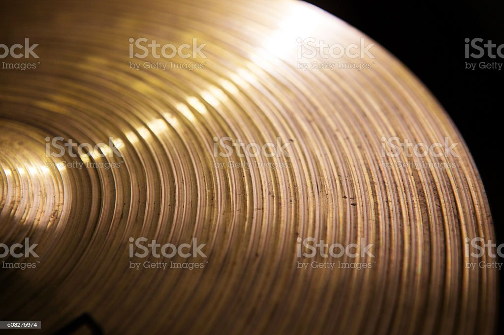 Vintage hi-hat closeup, for music stock photo
