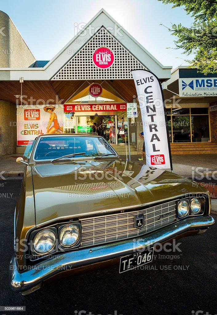 Vintage Holden at Parkes Elvis Festival 2016 stock photo