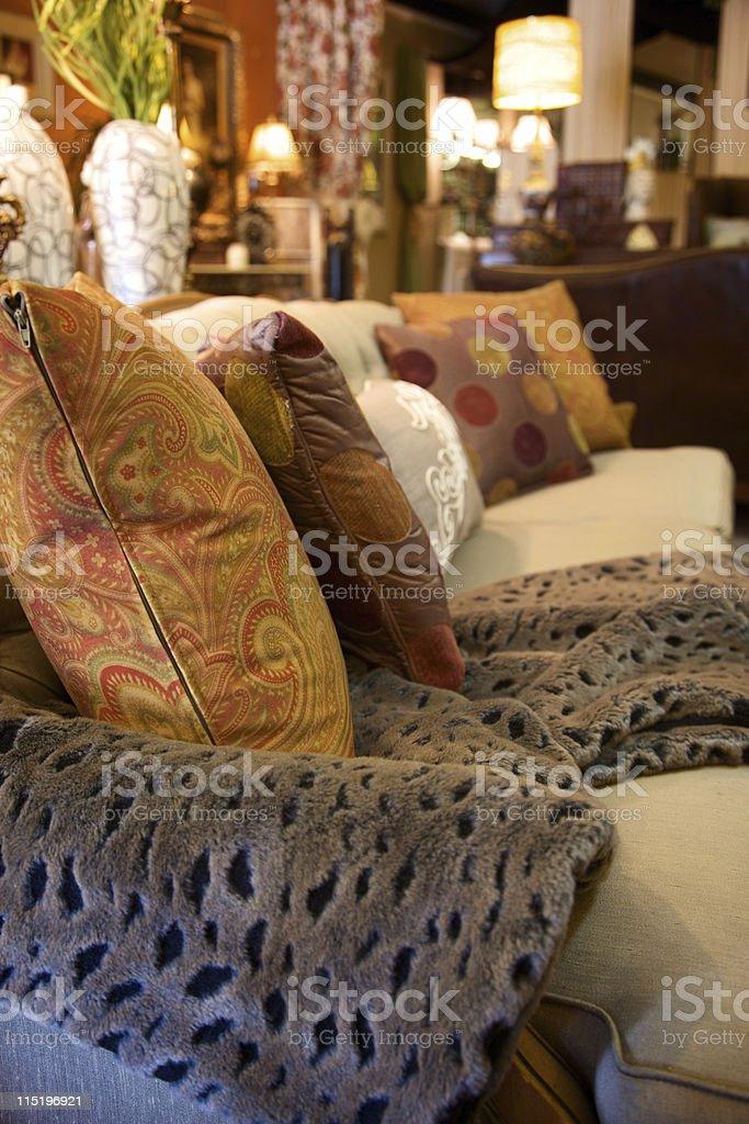 vintage home decor accessories sofa royalty-free stock photo