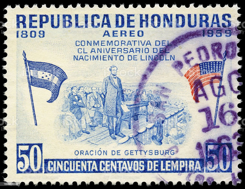 Vintage Honduran Air Mail stamp 1959 stock photo