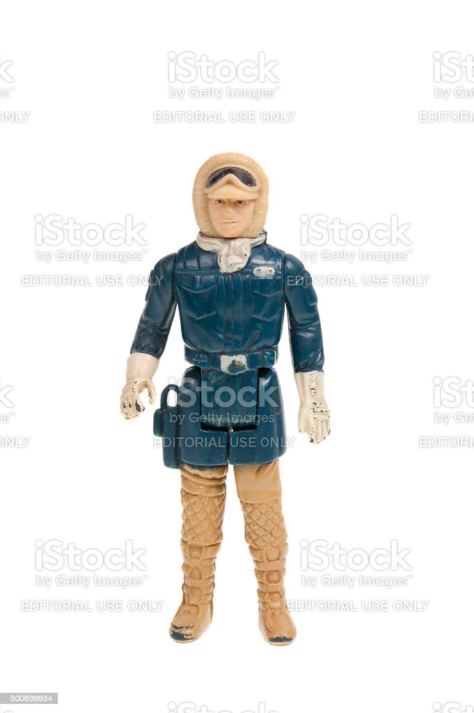 Vintage Hoth Han Solo Action Figure stock photo