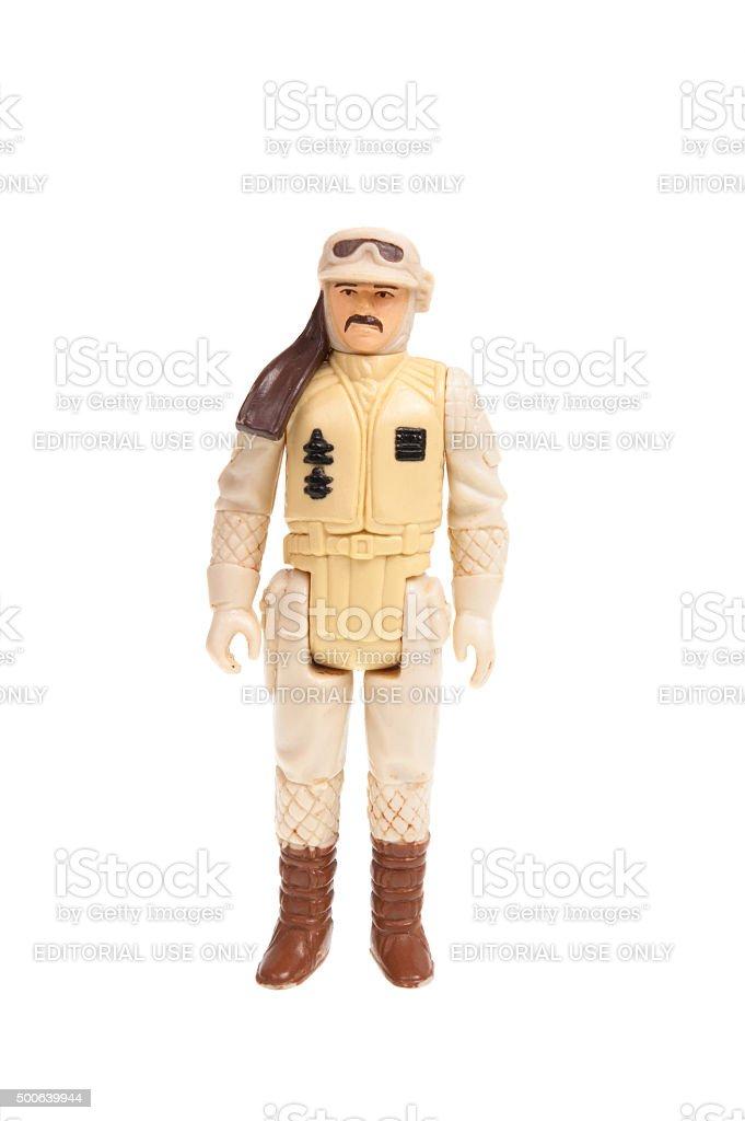 Vintage Hoth Rebel Commander Action Figure stock photo