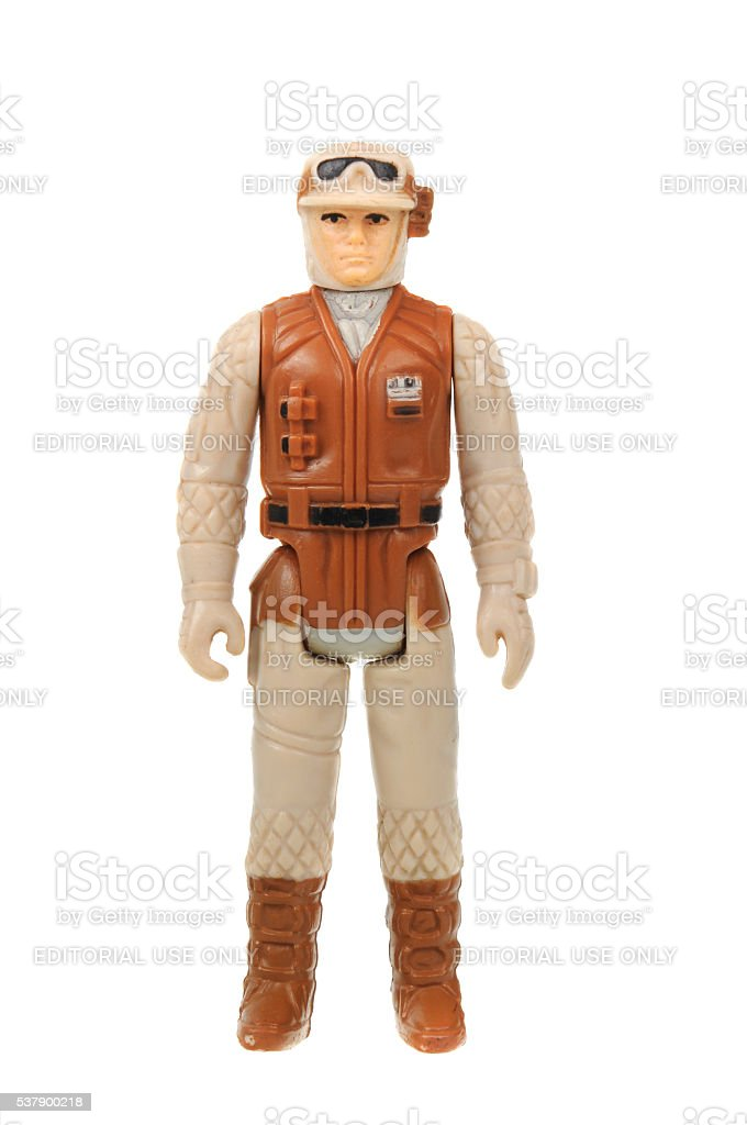 Vintage Hoth Rebel Soldier Action Figure stock photo