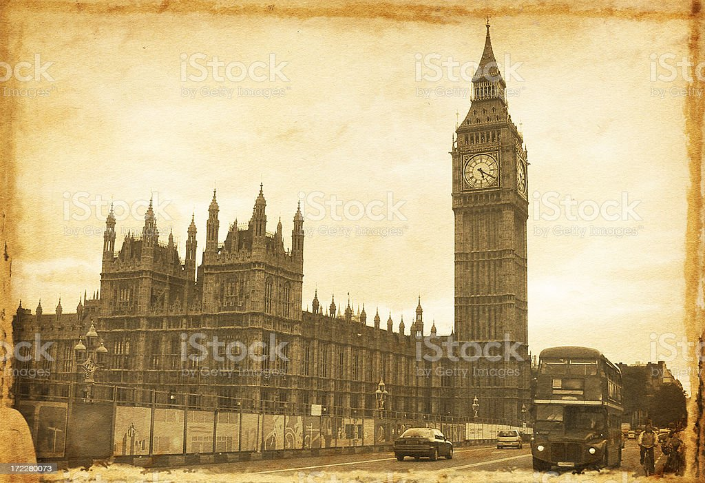 Vintage House of Parliament royalty-free stock photo