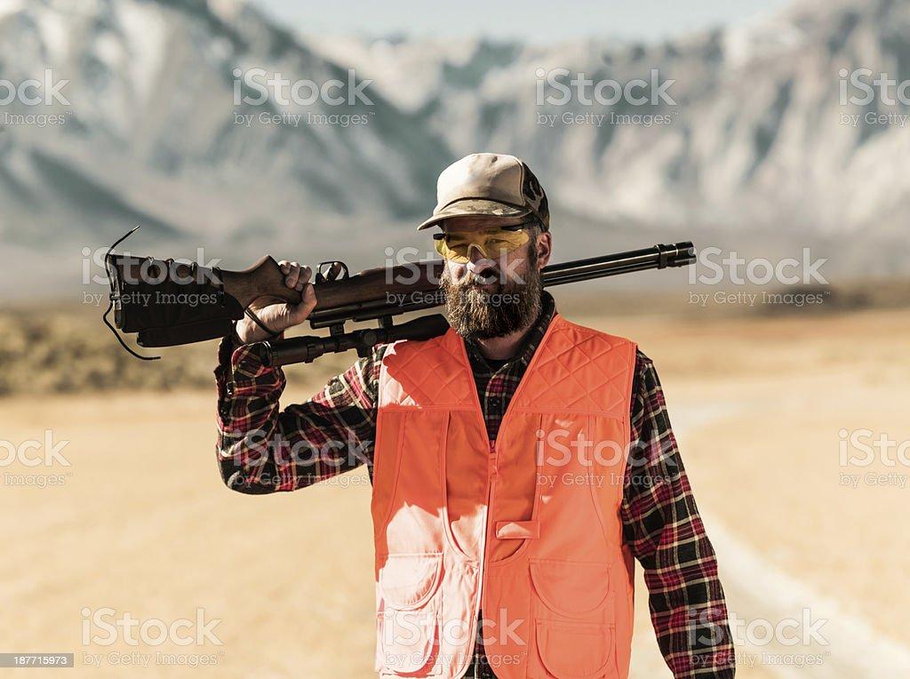 Vintage Hunter stock photo