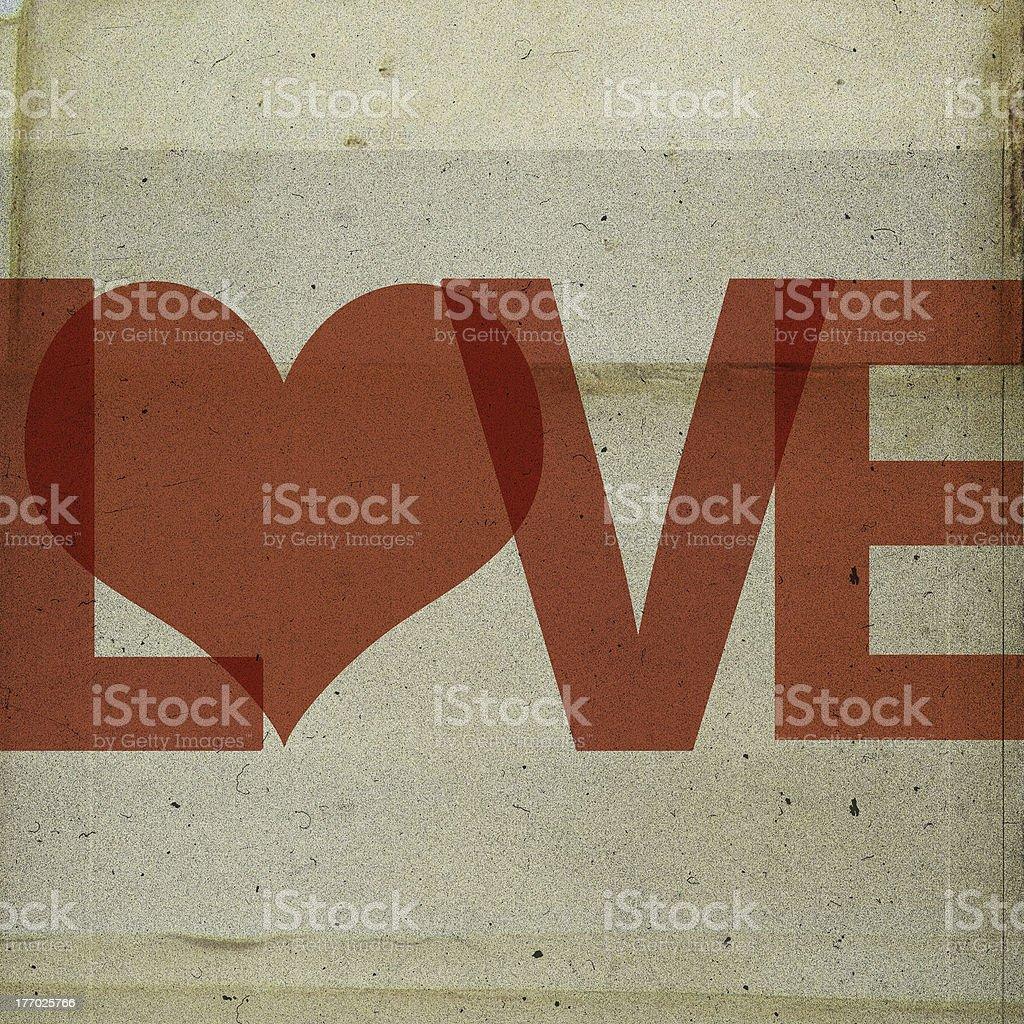 Imagen vintage de amor foto de stock libre de derechos