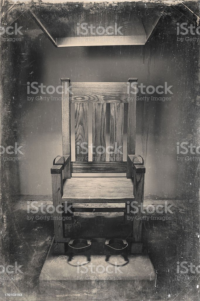 Vintage Image of Electric Chair stock photo