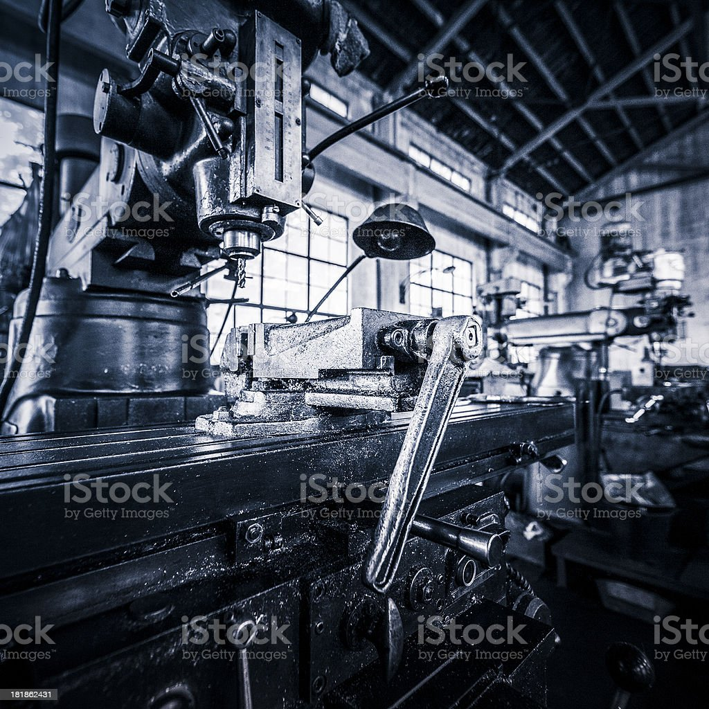 Vintage Industrial Machinery royalty-free stock photo
