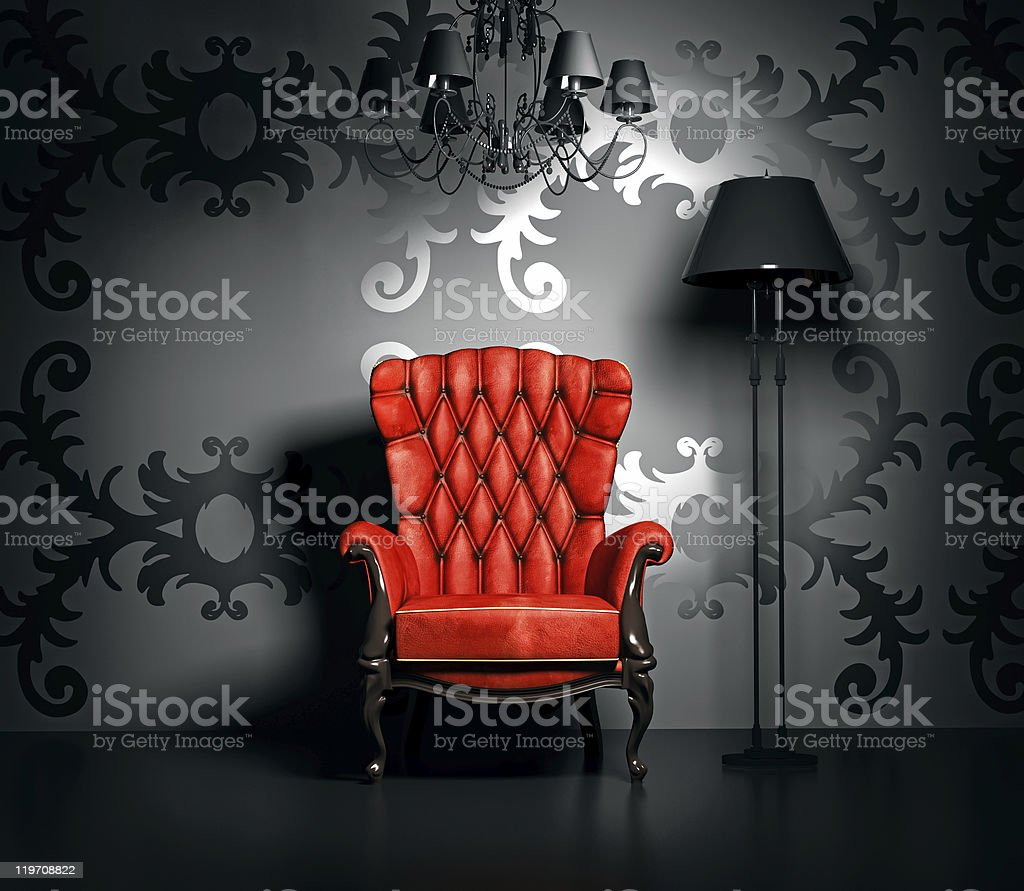 vintage interior stock photo