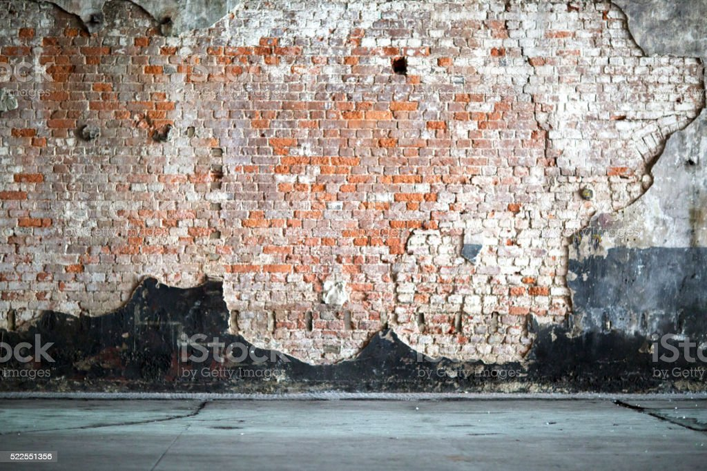 Vintage interior with Brick Wall stock photo