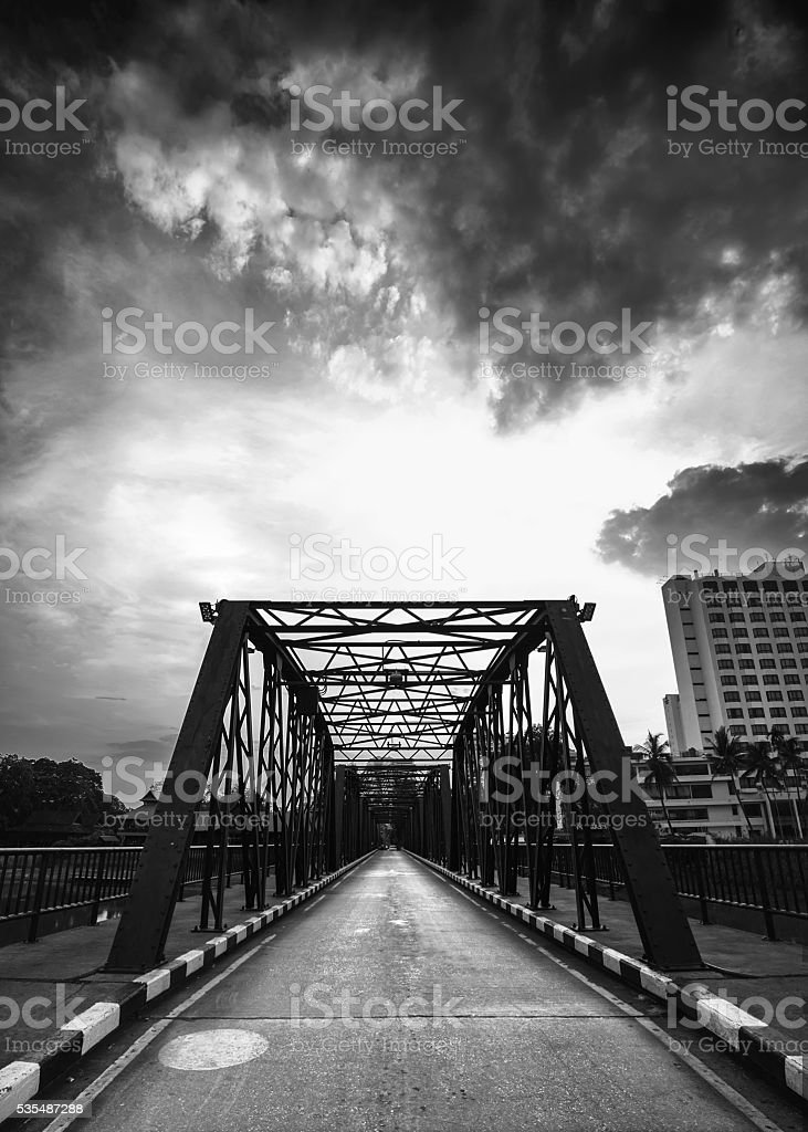 vintage iron bridge stock photo