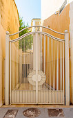 Vintage iron gates of a hous