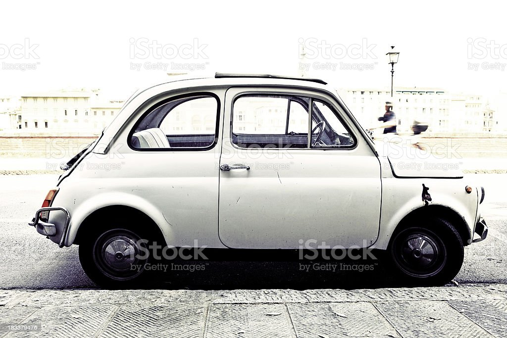 vintage italian car royalty-free stock photo