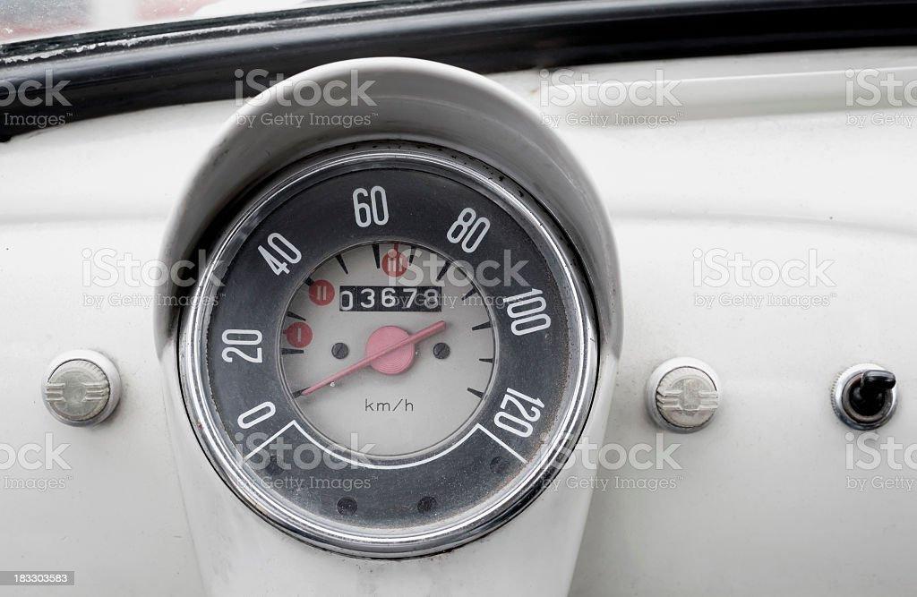 Vintage Italian Car Speedometer royalty-free stock photo