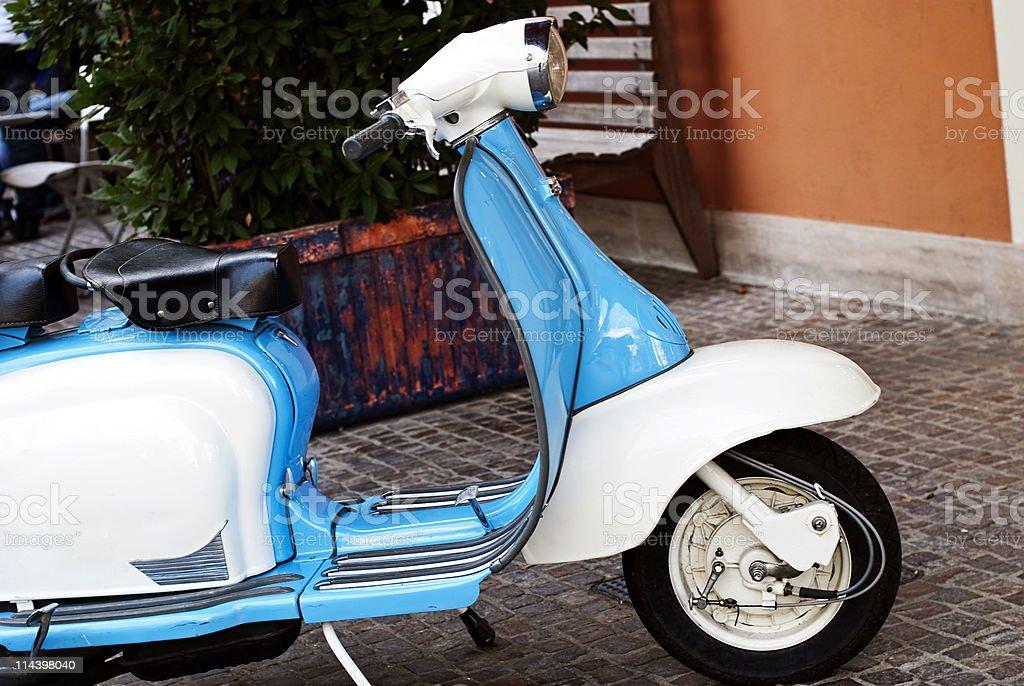 Vintage Italian motor scooter royalty-free stock photo
