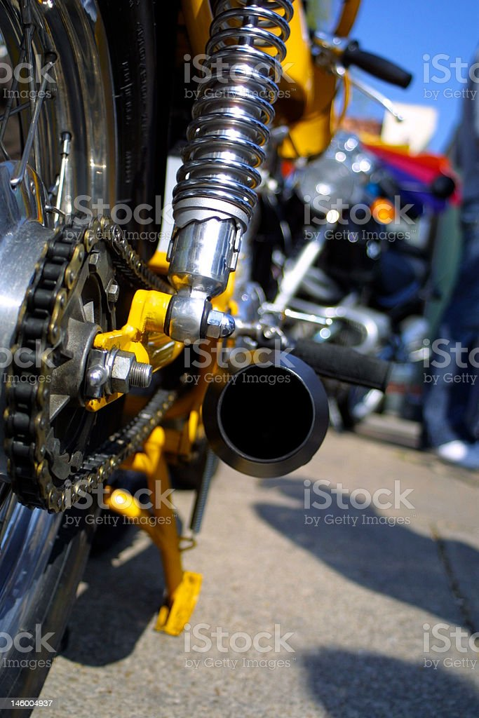 Vintage Italian Motorcycle Exhaust System royalty-free stock photo
