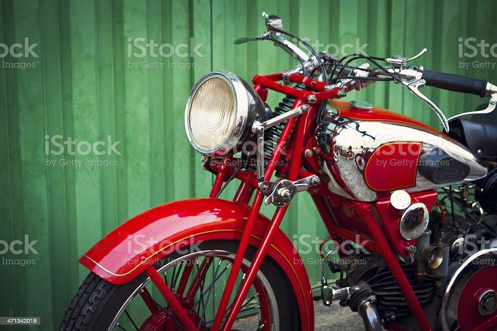 vintage italian motorcycle stock photo