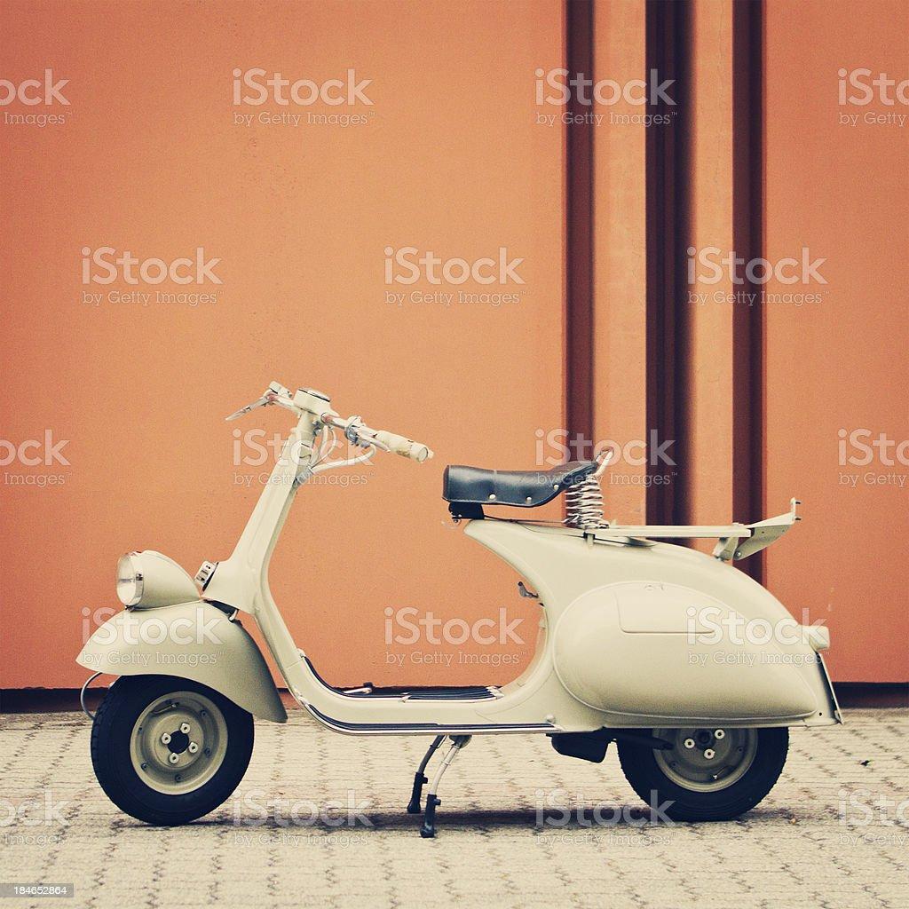 vintage italian scooter stock photo