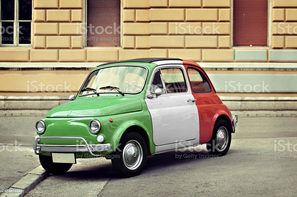 Vintage italian small car stock photo