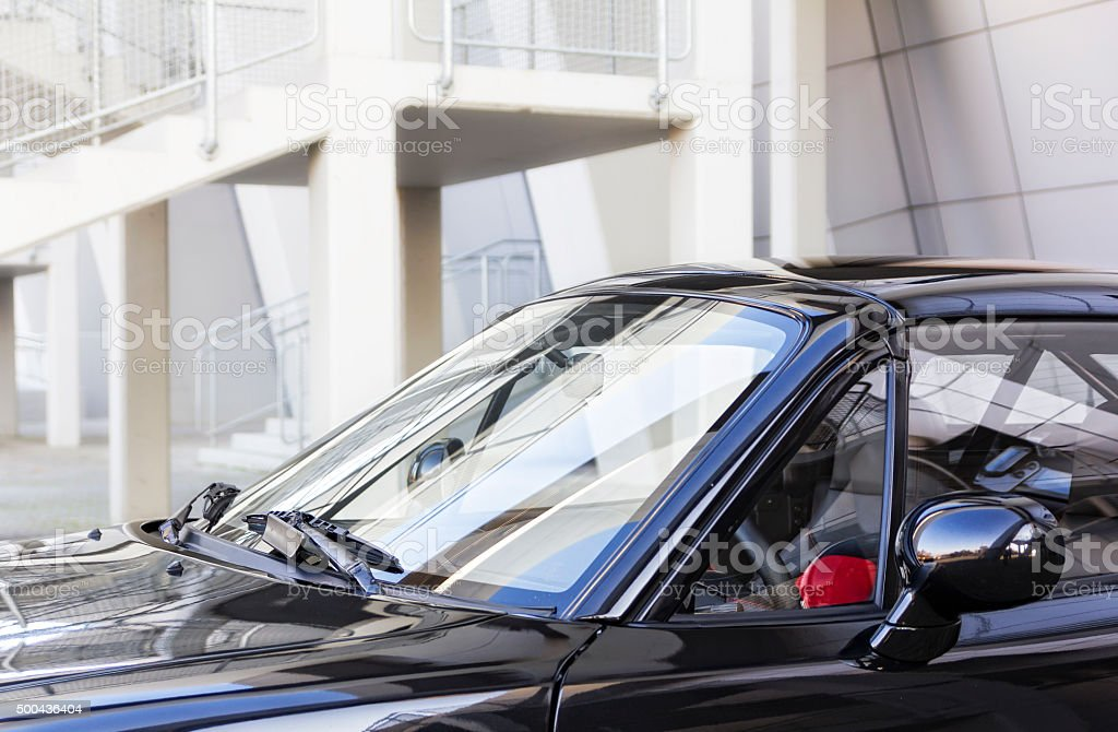 Vintage japanese car stock photo