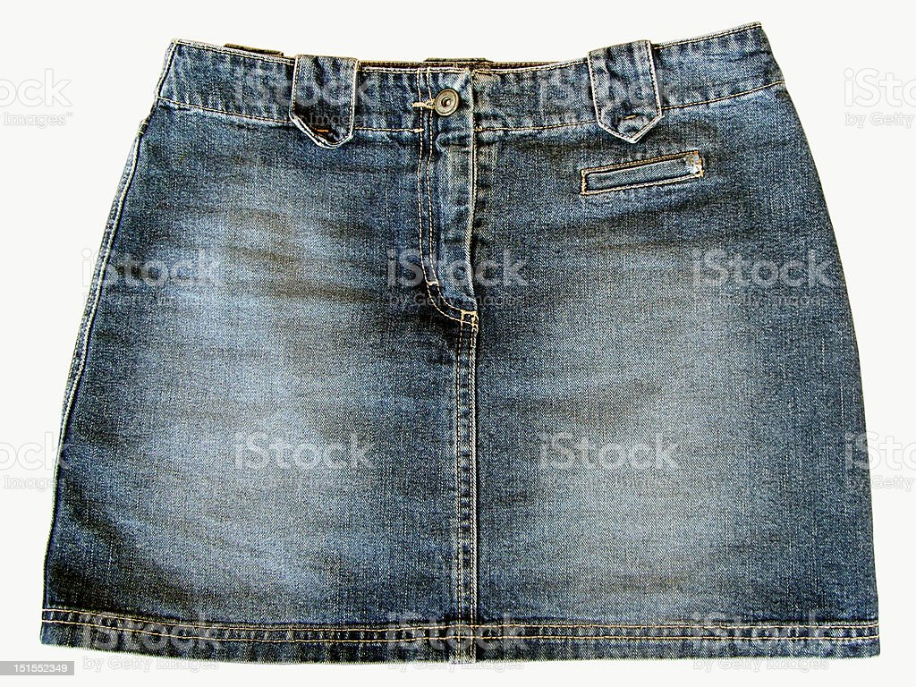 Vintage Jean Skirt royalty-free stock photo