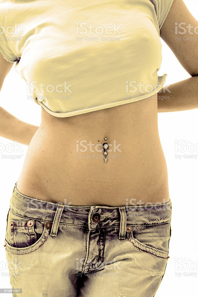Vintage Jeans royalty-free stock photo