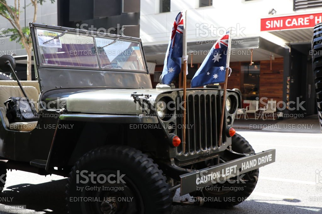 Vintage Jeep stock photo